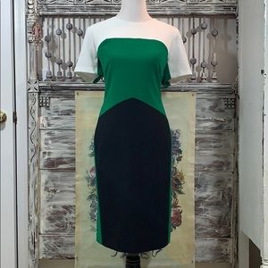 Anne Klein colorblocked dress, Sz 16